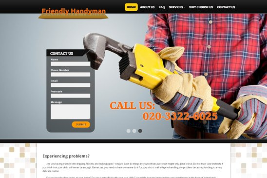 Friendly Handyman website