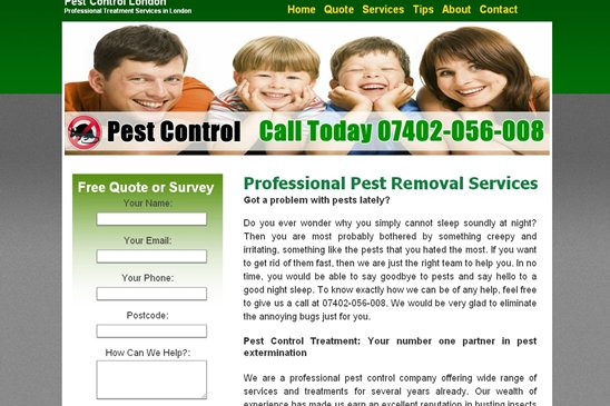 Pest Control Treatment website