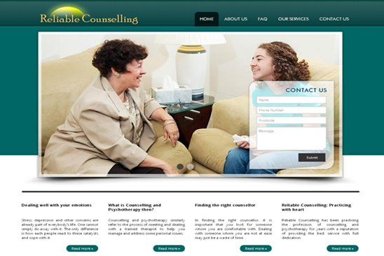 Reliable Counselling website